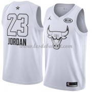 Maillot NBA Pas Cher Chicago Bulls Michael Jordan 23# White 2018 All Star Game Swingman..